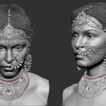 3D Character Pierced lady 001